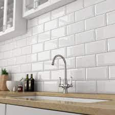 ceramic white glossy kitchen wall tiles