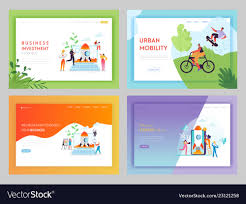Business Investment Startup Landing Page Template Vector Image