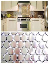 penny tile backsplash kitchen 53 examples stupendous stainless steel backsplash tiles design for cool penny tile backsplash kitchen image