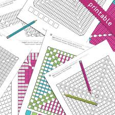 Crochet Granny Square Print And Color Graphs Solid And Filet Crochet Instant Download