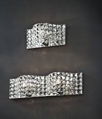 pocket design crystal wall light in two sizes