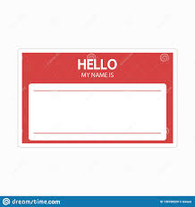 Identification Template Template Of Identification Card Name Tag Blank Sticker Flat Label