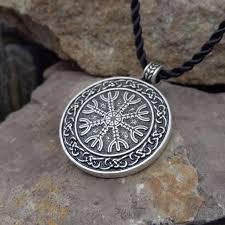 the helm of awe viking pendant scandinavian norse viking jewelry aegishjalmur sanlan