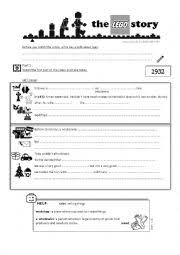 See our extensive collection of esl phonics materials for all levels, including word lists, sentences, reading passages, activities, and worksheets! The Lego Story Esl Worksheet By Ceridwenn