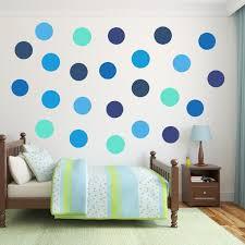 blue polka dot wall decal pack