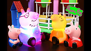 Peppa Light Peppa Pig Disneycartoys Light Up With George Daddy And Mommy