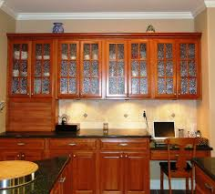 image of stained glass kitchen cabinet doors