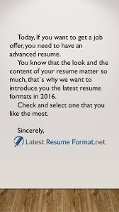latest resume formats today if you want to get a job offer you today if you want to get a job offer you need to have an
