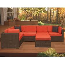 outdoor sectional home depot. Atlantic Contemporary Lifestyle Bellagio Brown 6 Piece All Weather \u2026 For Outdoor Sectional Sofa Home Depot U