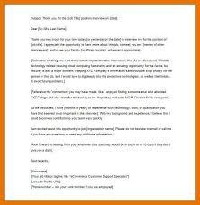 9 10 Interview Thank You Letter Title Juliasrestaurantnj Com