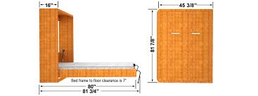 diy twin murphy bed. DIY Murphy Bed Finished Dimensions. Single Size Vertical Wall Mount  Diy Twin Murphy .