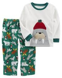 baby boy pajamas sleepwear carter s shipping 2 piece walrus fleece pjs