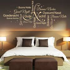 Wandtattoo Gute Nacht Wortwolke Sprachen Wörter Schlafzimmer