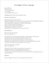 Bank Teller Resume Examples Impressive Teller Resumes Resume Tutorial