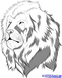 Small Picture Coloring Pages Draw A Lion Face To Print Within Online 1