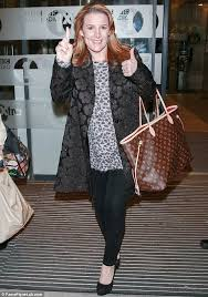 louis vuitton tote celebrity. proud in print: the mother-of-two finished off her look with a louis vuitton tote celebrity