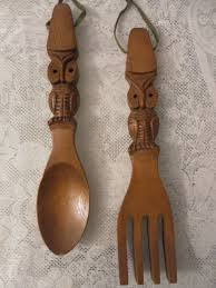 Large Fork And Spoon Wall Decor Similiar Big Wooden Spoon Decor Keywords