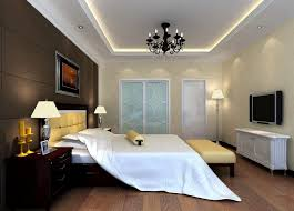 classy modern teenage bedroom decorating ideas with black crystal chandelier and wooden flooring also tv on wall
