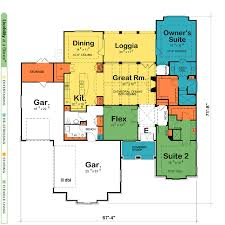 One Level House Plans With Two Master Suites Arts Bedroom And Dual Master Suite Home Plans