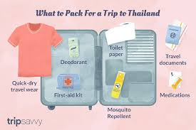Packing For Vacation Lists Thailand Packing List What To Pack For Thailand