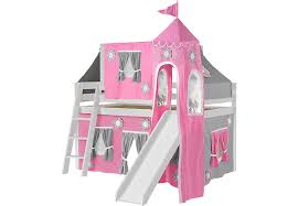 bunk beds with slides for girls. Modren Girls Pink Cottage White Jr Tent Loft Bed With Slide Top And Tower On Bunk Beds With Slides For Girls N