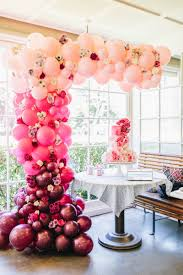 Balloon Designs For Bridal Shower Ombre Pretty Pink Bridal Shower Bridal Shower Summer