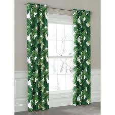 tropical print curtains green banana leaf grommet outdoor curtain loom decor tropical print upholstery fabric uk