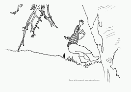 Jumping kid coloring page