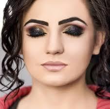 woman eye woman with bright make up beautiful woman