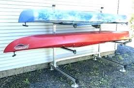 kayak storage rack ideas outdoor canoe diy stora