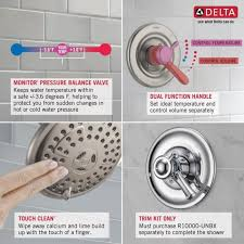 delta dryden 1 handle tub and shower faucet trim kit in chrome valve not included t17451
