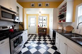Brilliant Kitchen Floor Tiles Black And White Diamond Comtemporary Idea In Concept Design