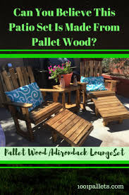 furniture made of pallets. Fantastic Pallet Adirondack Chairs Patio Set Furniture Made Of Pallets