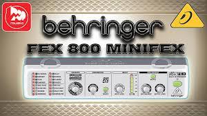 <b>BEHRINGER</b> FEX 800 MINIFEX Компактный <b>процессор эффектов</b> ...
