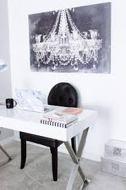 White office decors Small Blondie In The City Home Decor Office Decor Desk Styling Blondie In The City Blondie In The City Desk Area Reveal