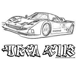 Print Off Orca Race Car Coloring - Gekimoe • #80127