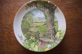 royal worcester porcelain peter barrett scenes of the english countryside 12 decorative collectors wall plate
