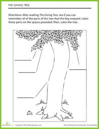 Small Picture The Giving Tree Story Worksheet Educationcom