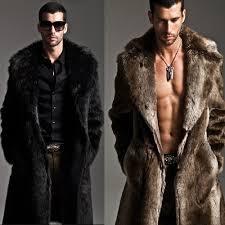 men s coyote hooded faux fur jacket mens jackets