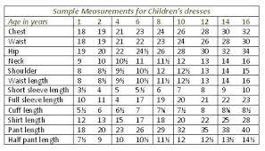Lito Childrens Wear Size Chart Size Charts