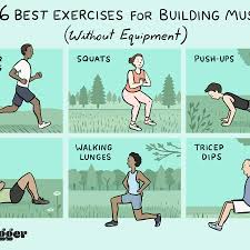 6 exercises for building muscle without