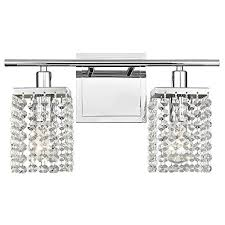 Bathroom Vanity Light With Outlet Fascinating 48Light Crystal Bathroom Vanity Light Lovely Issatec