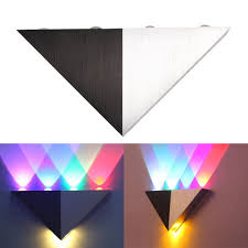 Multi Color Wall Light Us 13 44 26 Off Brace Lamp Multi Color 5w Triangle Led Wall Lamp Sconce Light Up Down Indoor Wall Lamp Lighting Black White In Led Indoor Wall