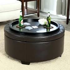 large round storage ottoman coffee table tables at leather