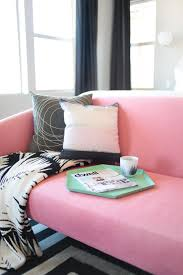 Bedroom Makeover Geometric Dcor Pink Sofa Teen Vogue