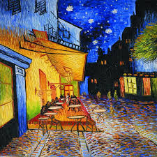 high quality canvas printed painting cafe terrace at night by vincent van gogh painting reions office wall decor art in painting calligraphy from