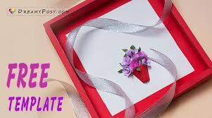 Paper Flower Frame How To Make 3d Paper Flower Card With Free Template So Simple