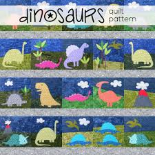 Bestselling Applique Quilt Patterns of 2017 | Shiny Happy World & Dinosaurs - an easy applique quilt pattern from Shiny Happy World Adamdwight.com