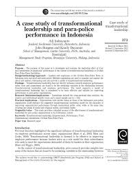 A Case Study Of Transformational Leadership And Para Police