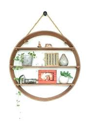 circle shelf room ideas half shelves wall cove marble target view larger wood